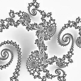 Georgiana Romanovna - Silken Dragon Abstract Black and White