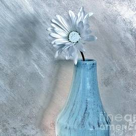 Silver Daisy Whimsical Flower by Marsha Heiken