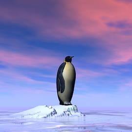 Single emperor penguin - 3D render by Elenarts - Elena Duvernay Digital Art