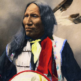 Sioux Chief Portrait by Isabella Howard