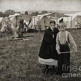 Craig Smith - Sister and Brother at Civil War Reenactment, Tintype Style