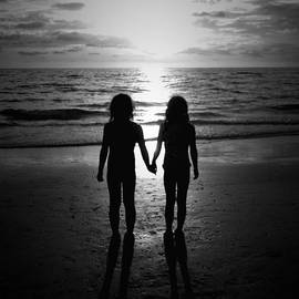Sisters in Black and White by Kim Comeau