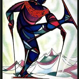 Ski Colorado, United States - Colorado Winter Sports - Retro travel Poster - Vintage Poster - Studio Grafiikka