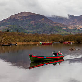 W Chris Fooshee - Skimming boat and scudding clouds