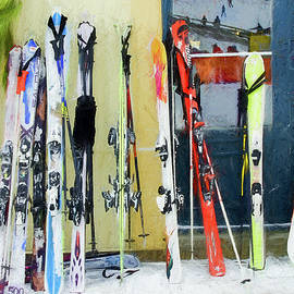 Rob Huntley - Skis by the window.