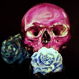 Melissa  Stapley - Skull and Flowers