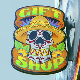 Nikolyn McDonald - Skull in Sombrero- Gift Shop Sign