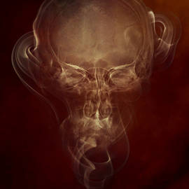 Skulls And Smokes - Red Version by Jaroslaw Blaminsky