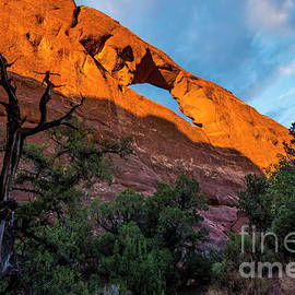 Gary Whitton - Skyline Arch At Sunset - Arches National Park - Utah