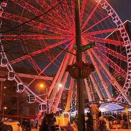 Skyview Atlanta ferris wheel lights and horses by Charlene Cox