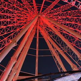 Skyview Atlanta ferris wheel lights by Charlene Cox