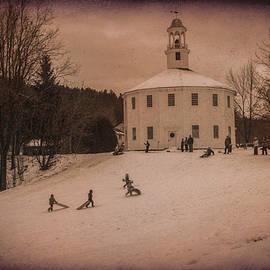 Jeff Folger - Sledding at the Vermont round church