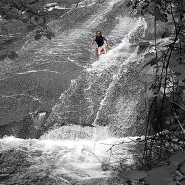Sliding Rock Girl by Kathy Barney