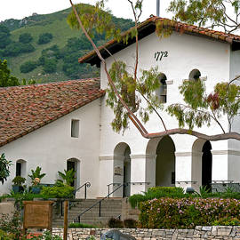 SLO Morning at the Mission, San Luis Obispo, California by Denise Strahm