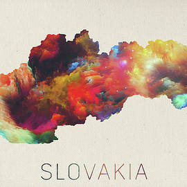 Design Turnpike - Slovakia Watercolor Portrait