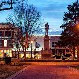 Gregory Ballos - Small Town America Skyline - Downtown Bentonville Square