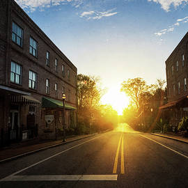 Small Town Street Sunset by Whitney Leigh Carlson