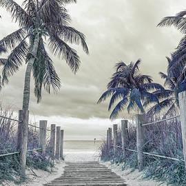 Betsy Knapp - Smathers Beach Sepia Blue Purple