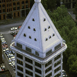 Smith tower from Columbia-Seafirst Center, Seattle 1989 by Mr Pat Hathaway Archives