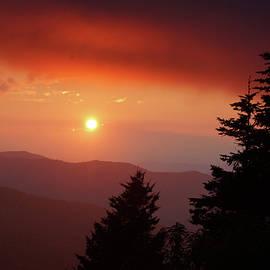 Smoky Mountain Sunset, July 2018 by Randy Ball