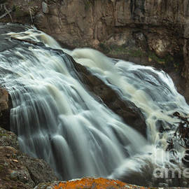 Smooth Water Of Gibbon Falls by Robert Bales
