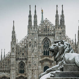 Snow At Milan's Duomo Cathedral  by Alexandre Rotenberg