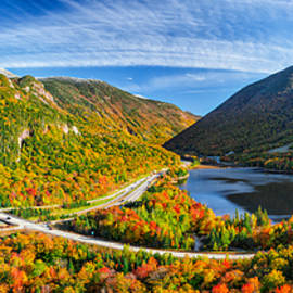 Shell Ette - Snow Capped Franconia Notch in Autumn 2015