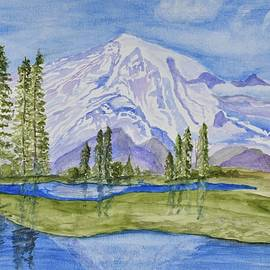 Snow Covered Mountain by Linda Brody