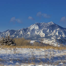 Snow Dusted Flatirons - Boulder, Colorado - Bridget Calip