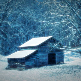 Debra and Dave Vanderlaan - Snow on the Country Barn at Dusk