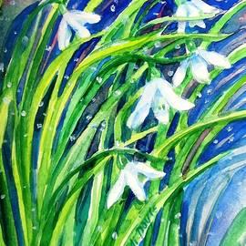 Trudi Doyle - Little Snowdrops in the snow  .