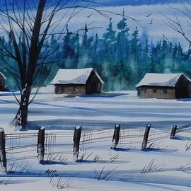 David K Myers - Snowed In, Watercolor Painting