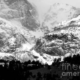 Diane M Dittus - Snowfall in the Rockies BW-2