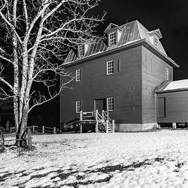 Big Otter River Mill  in Snow Black and White by Norma Brandsberg