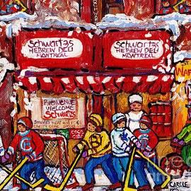 Carole Spandau - Snowy Hockey Game Schwartz