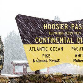 Amy Sorvillo - Snowy Hoosier Pass Sign in Colorado