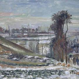 Snowy Landscape near le Hermitage, 1875 - Camille Pissarro