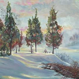 SNOWY RIVER DAWN - David Lloyd Glover