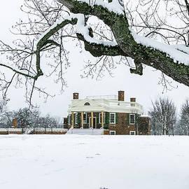 Snowy Thomas Jefferson Poplar Forest by Norma Brandsberg