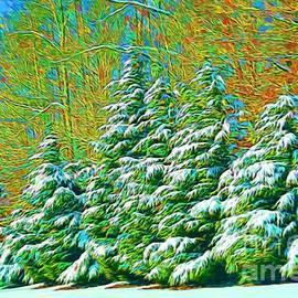 Snowy Trees by Kathy Liebrum Bailey