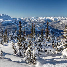 Snowy Whistler Mountain  by Pierre Leclerc Photography