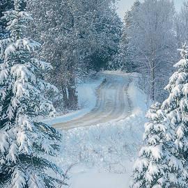 Snowy Wisconsin Road by Joan Carroll