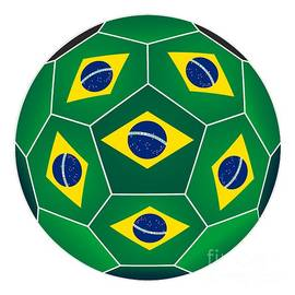 Michal Boubin - Soccer ball with Brazilian flag