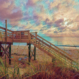 Soft Colors of Dawn on the Dunes by Debra and Dave Vanderlaan
