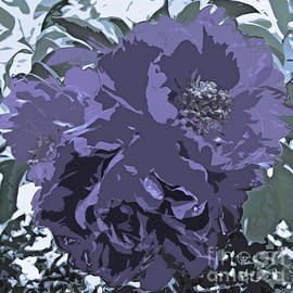 Soft Tone Floral Abstract Lavender by Adri Turner