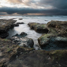 Solana Beach Stormy Afternoon by William Dunigan