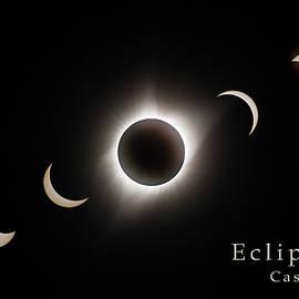 Solar Eclipse Collage 3 by Rikk Flohr
