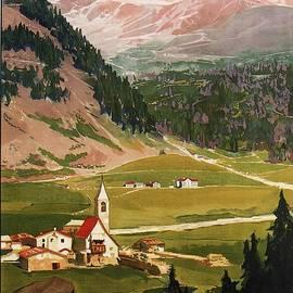 Studio Grafiikka - Solda 1900 - Sulden, Italy - View Of Mountains - Retro travel Poster - Vintage Poster