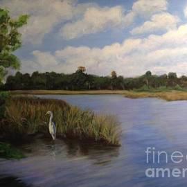 Solitary fisherman by Leslie Dobbins