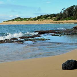 Solitary Rock On Mahaulepu Beach Hawaii by Bruce Gourley